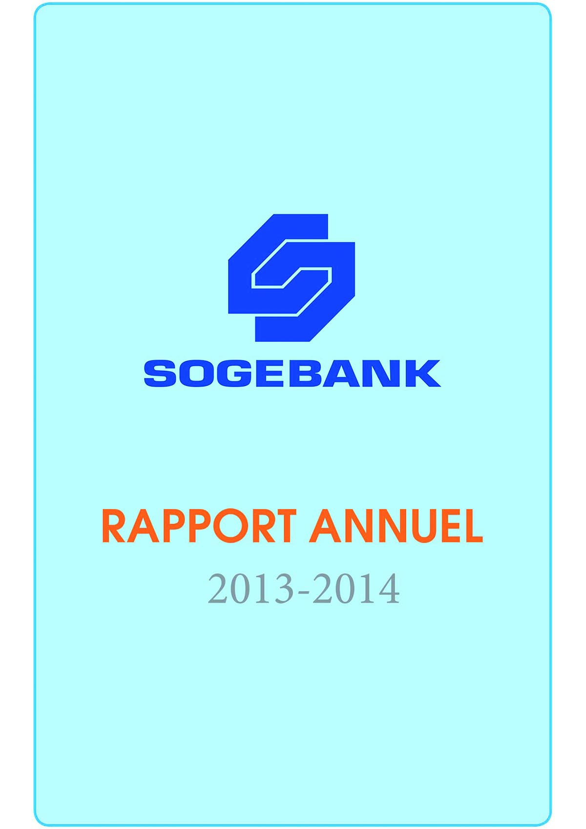 Rapport  Annuel 2013 – 2014