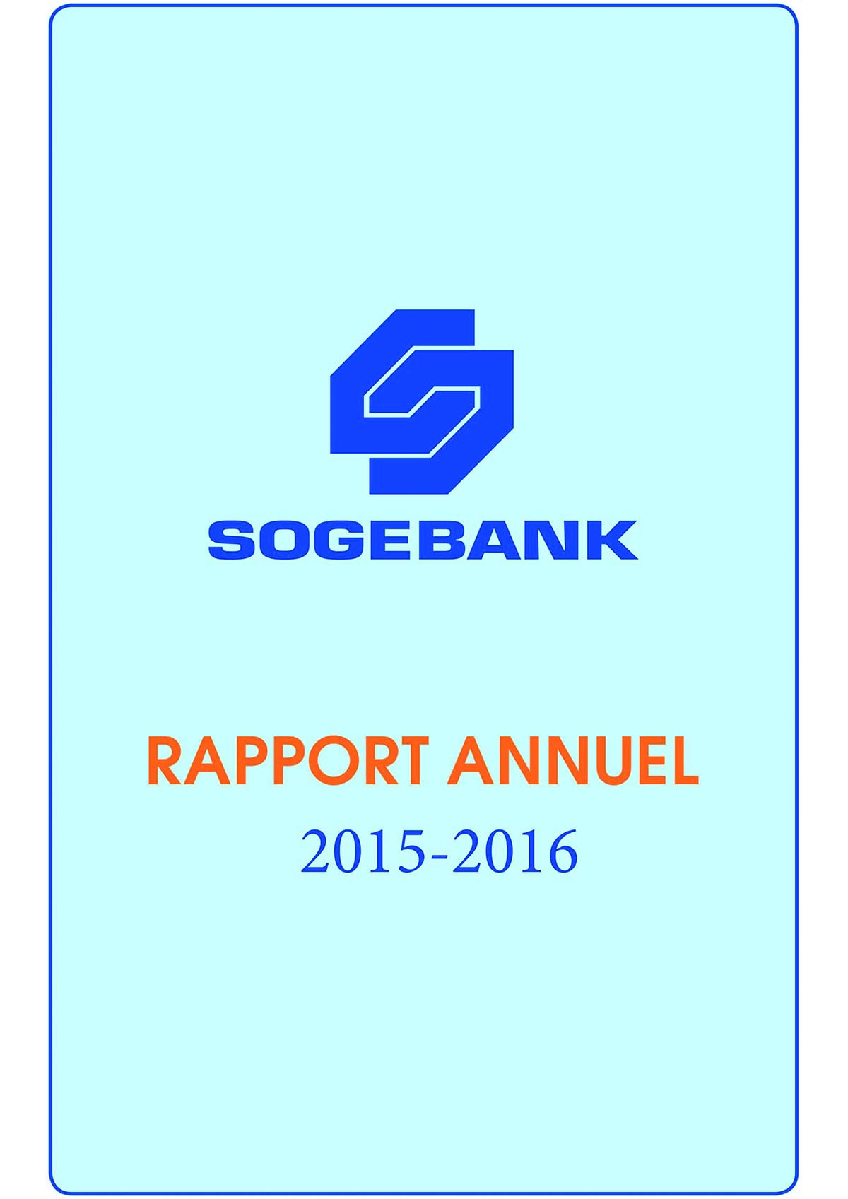 Rapport  Annuel 2015 – 2016